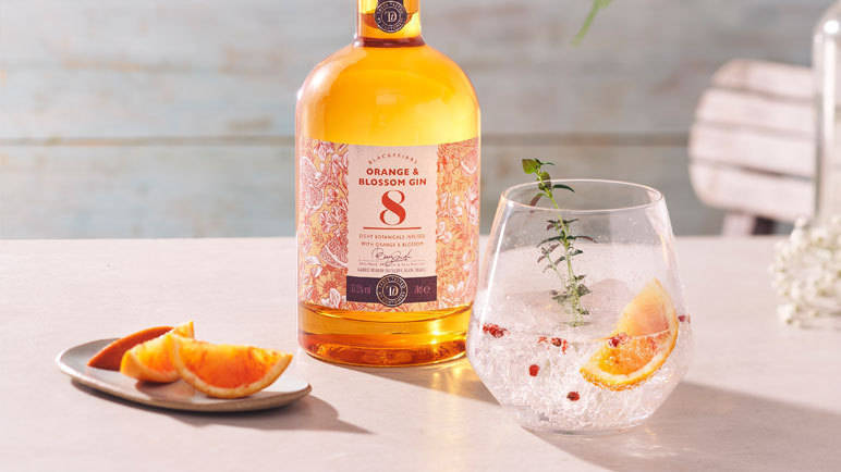Image: Orange blossom gin cocktail