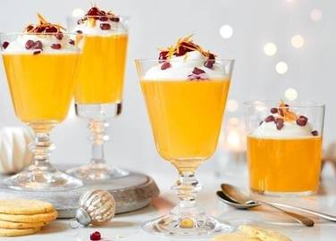 Image: Champagne & clementine jellies with sable biscuits