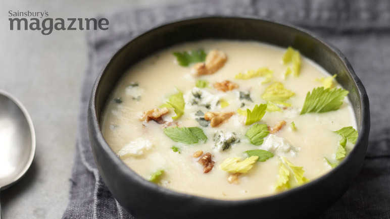 Celeriac and bramley apple soup