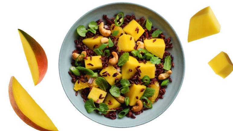 Image: Mango and wild rice salad