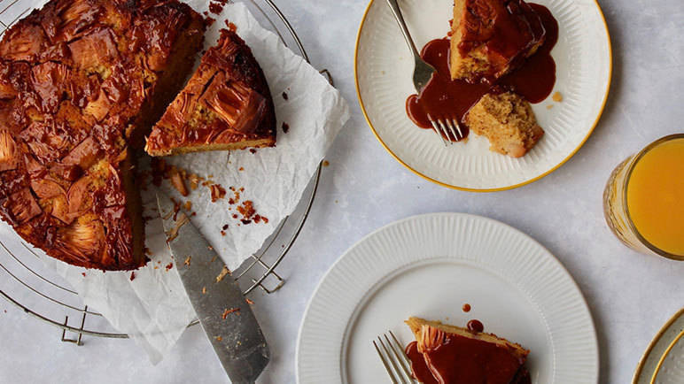 Image: Jackfruit and ginger upside down cake
