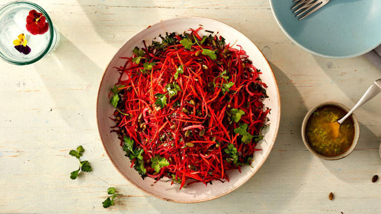Image: Carrot and beetroot salad