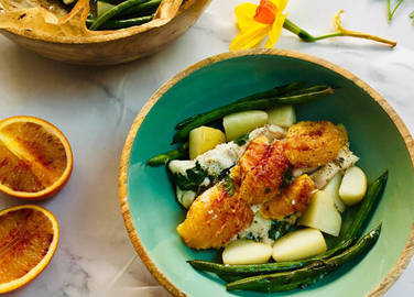 Image: Blood orange baked cod