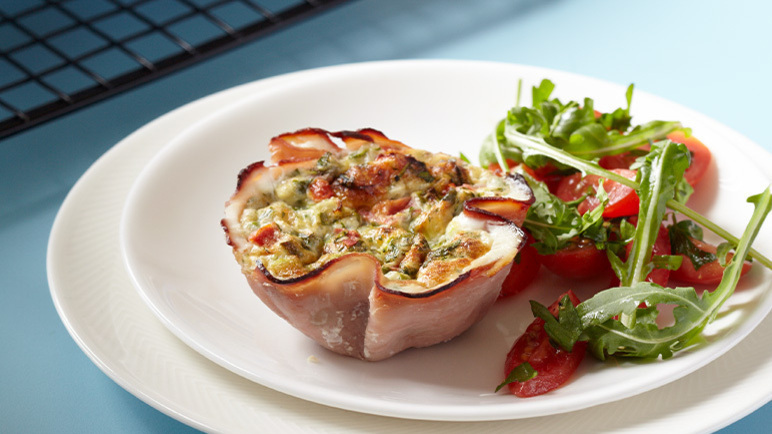 Image: Ham, Courgette and Cheddar Crustless Quiches