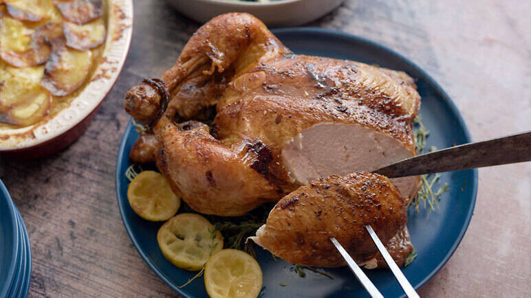 Image: Brined roast chicken
