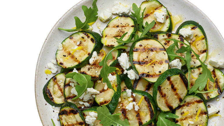 Image: Griddled courgette