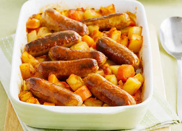 Home / Recipes / Courses / Main courses / Sausage and potato bake