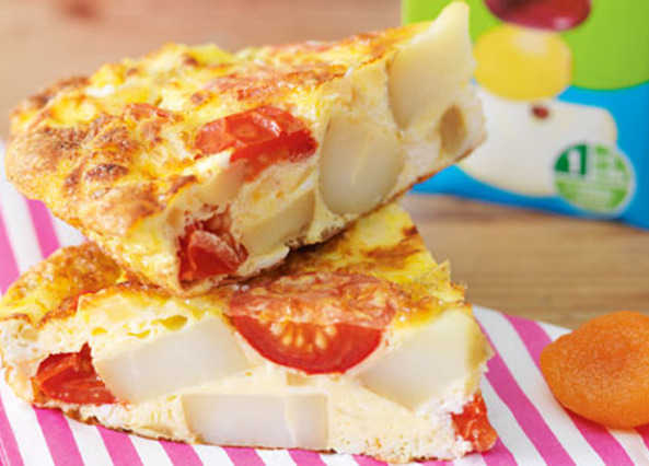 Goat's cheese and tomato frittata image