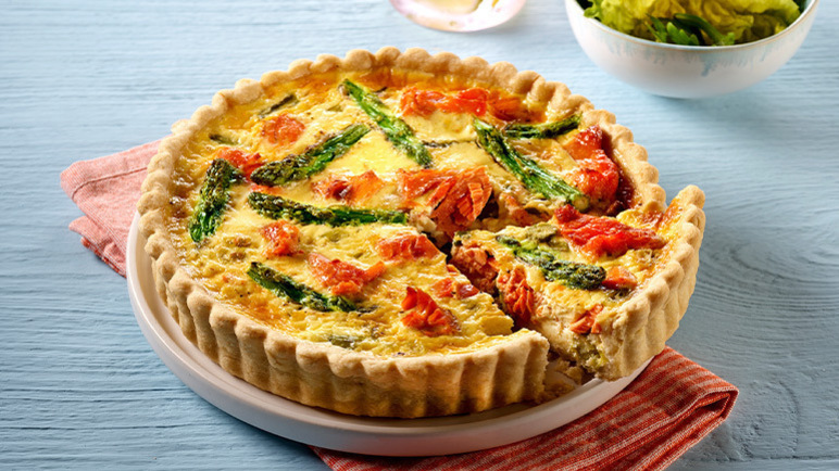 Image: Princes Salmon, Spring Onion and Asparagus Quiche