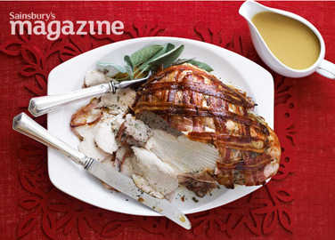 Roast turkey crown with gluten-free sage stuffing