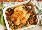 All-in-one roast chicken with aioli