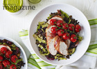 Parma ham chicken with lentils