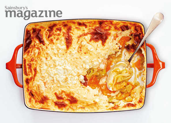Leek and sweet potato moussaka