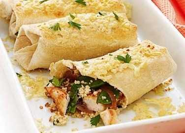 Baked chicken wrap image