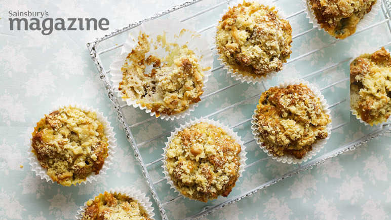 Pear, blue cheese and walnut muffins