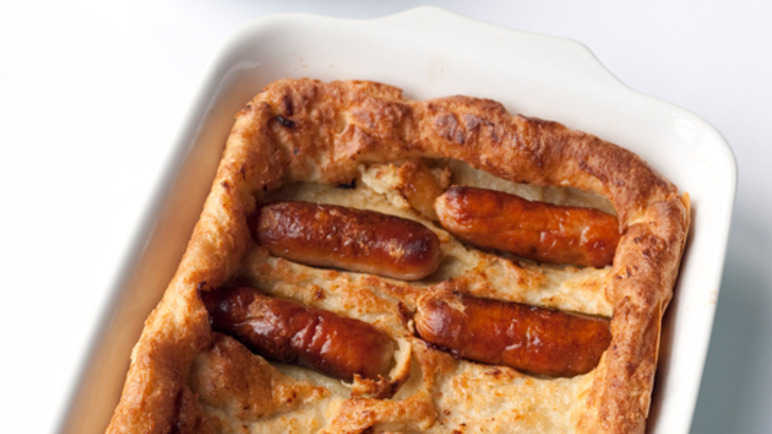 Toad in the hole & vegetables image