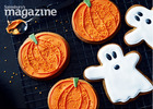 Pumpkin & ghost ginger biscuits