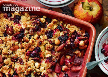 Apple and blueberry jumblenut crumbl image