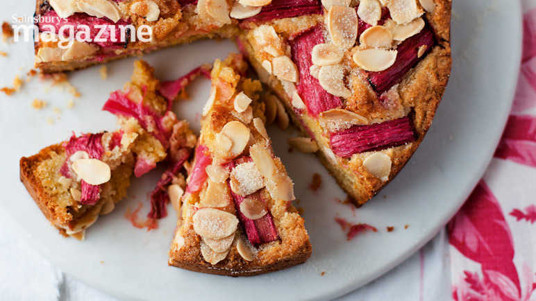 Rhubarb and almond cak image