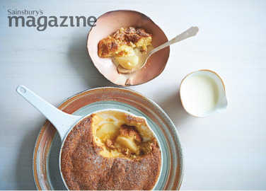 Ginger pear upside-down pudding