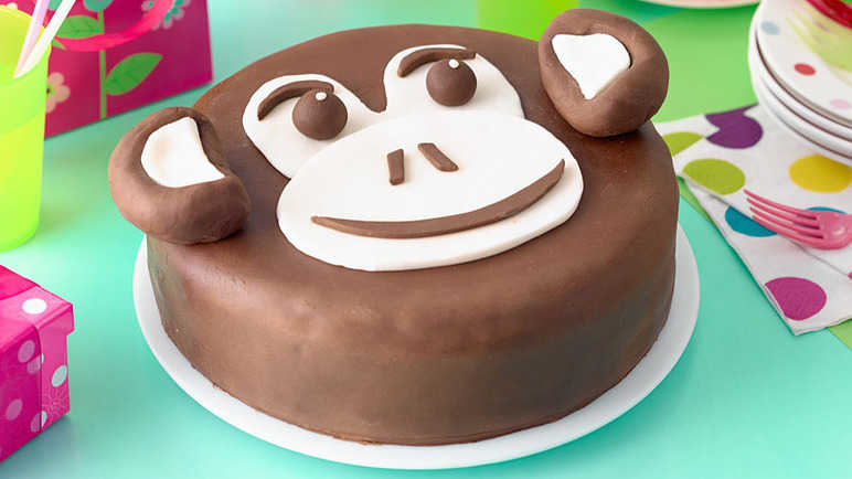 Chocolate chimp birthday cak image