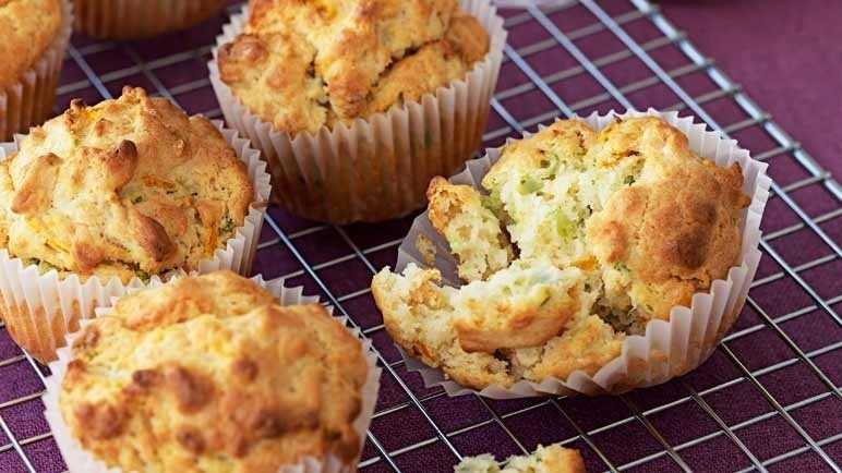 Savoury carrot & courgette muffin image