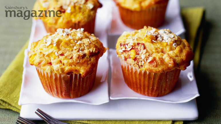 Gluten-free chorizo, sweetcorn and tomato muffins