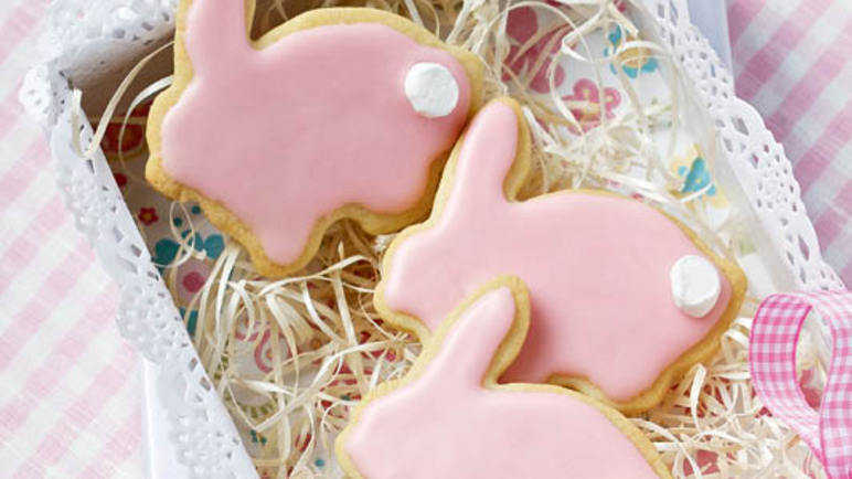 Easter bunny cookie image