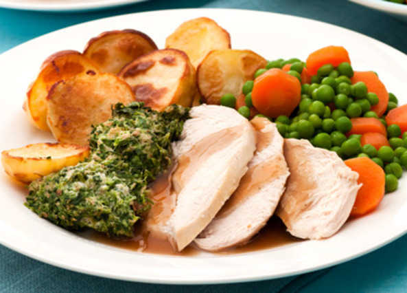 Roast chicken with stuffin image