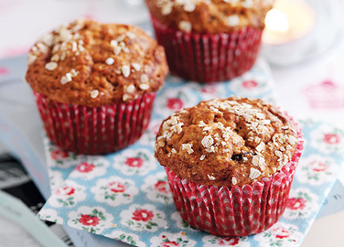 Honey & raisin muffin image