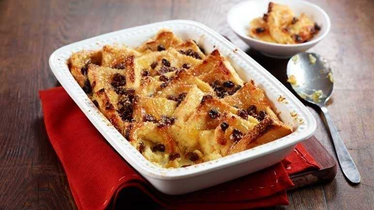 Orange bread & butter pudding image