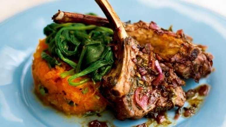 Balsamic & mint-glazed lamb with roasted butternut mas image
