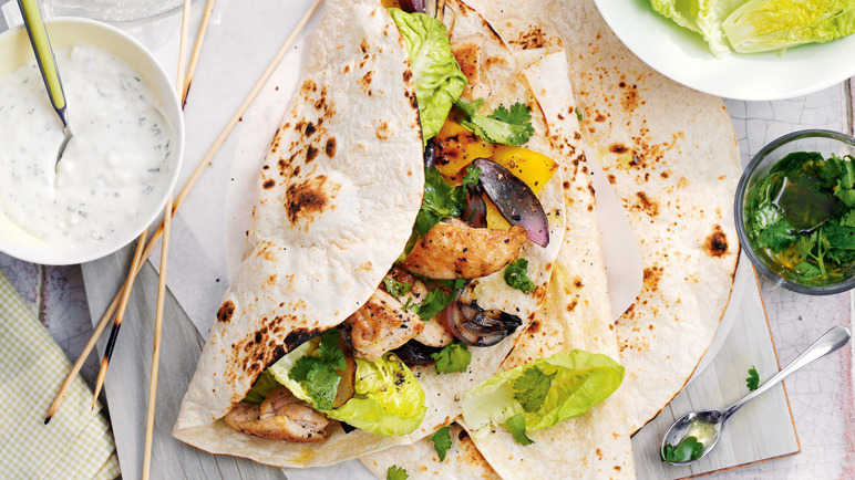 Chicken and lemon kebab image