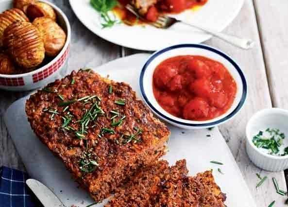 Meatloaf with cherry tomato sauce image