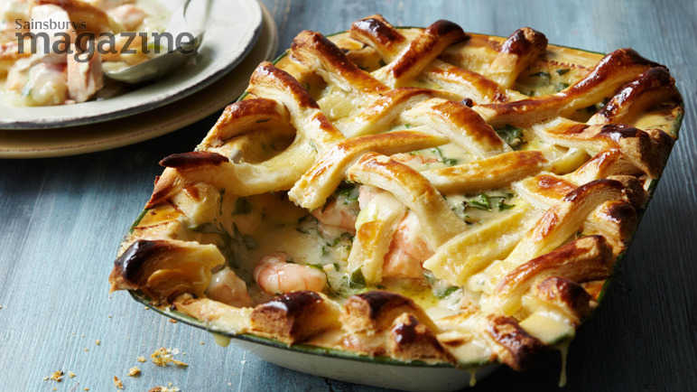 Lattice-topped fish pie