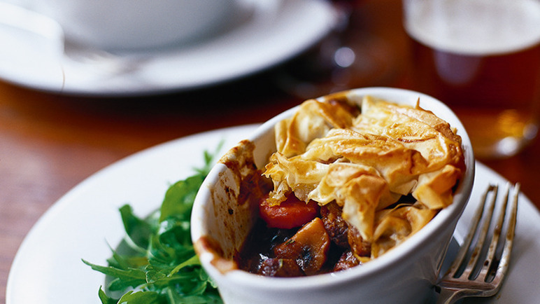 Individual steak & ale pie image