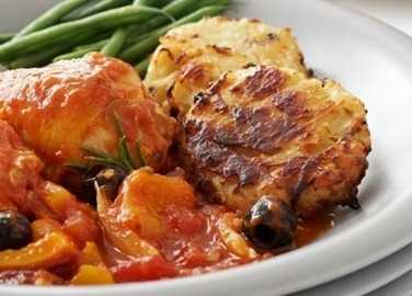 Italian chicken & olive stew with hash brown image