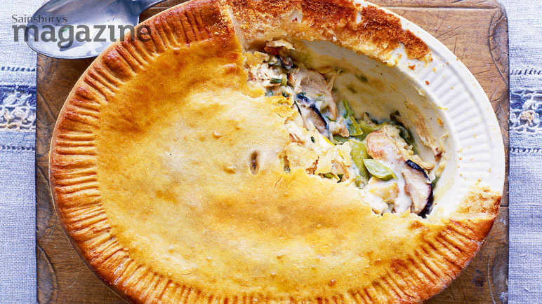 Hot Water Crust Chicken Leek And Shiitake Pie