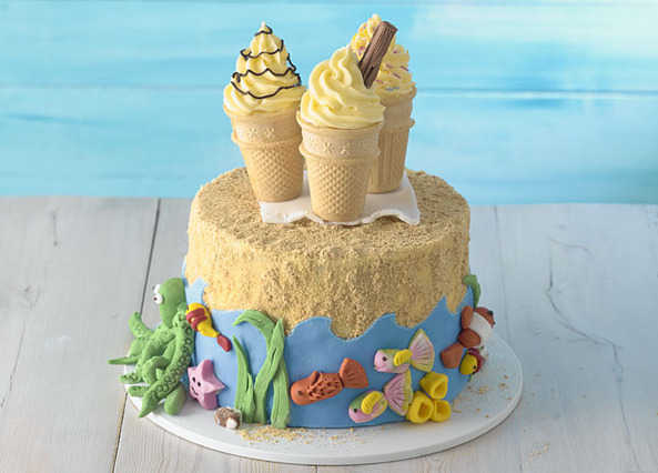 Surprising Recipe Seaside Cake Sainsburys Funny Birthday Cards Online Inifofree Goldxyz