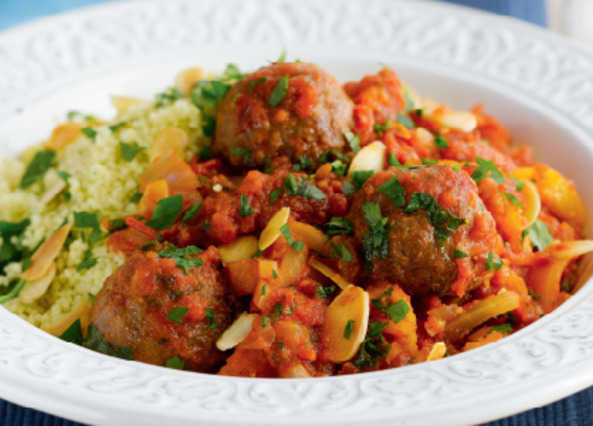 Moroccan lamb meatballs with cous cous