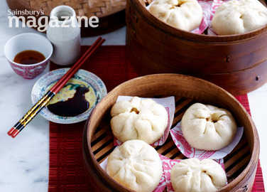 Chinese steamed pork bun image