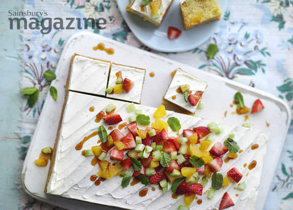 Image: Pimm's cup traybake