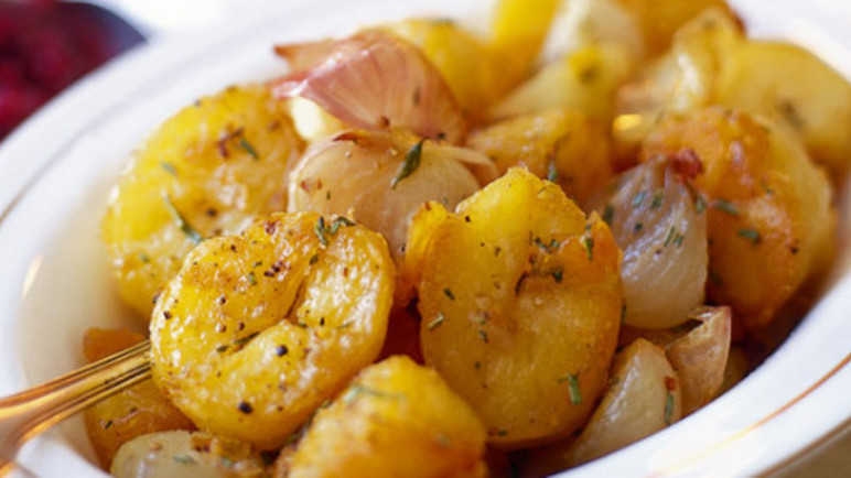 Twice-cooked lemon thyme potatoe image