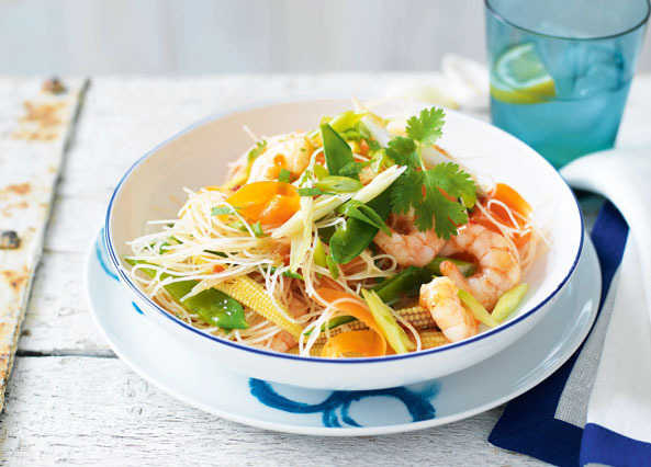 Sweet and sour prawn image