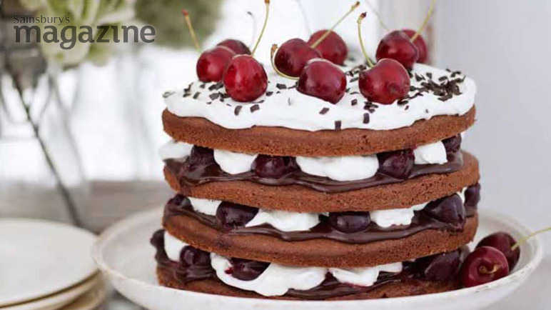 Image: Chocolate cherry trifle cake