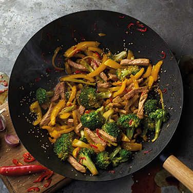 Image: Pork and broccoli stir fry with honey