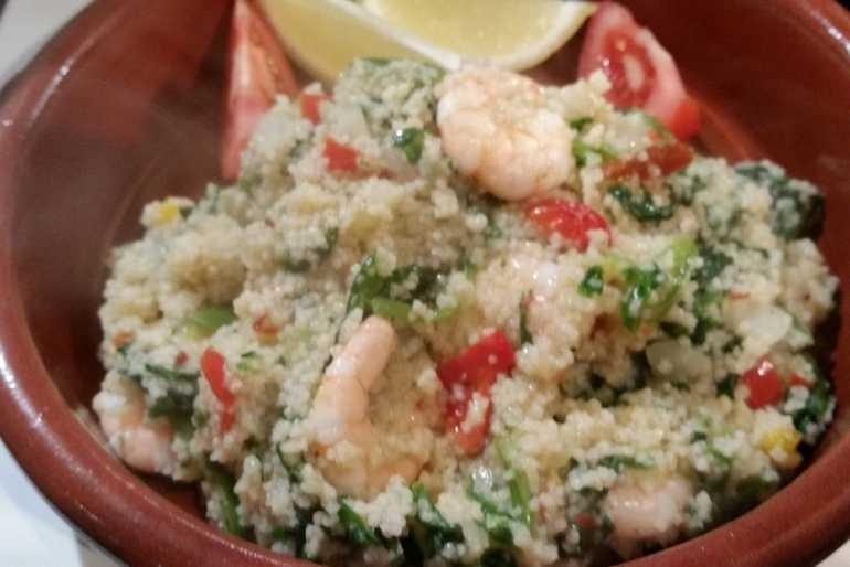 Prawn & Spinach Couscous risotto image