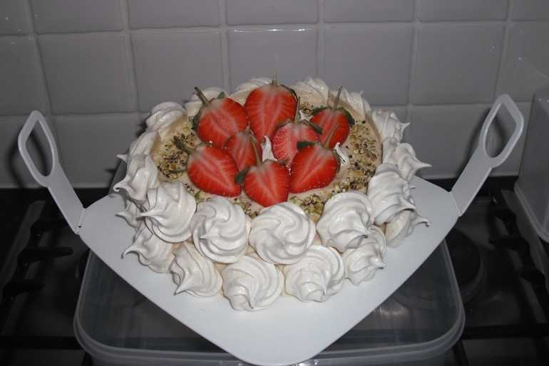 Strawberry, Black Pepper and Rose Cake. image