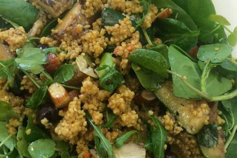 Courgette and couscous salad  image