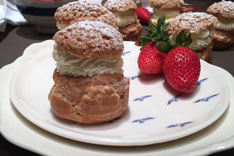 Strawberry Choux Buns image